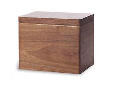 Wood Cremation Urn. Standard model with Black Walnut