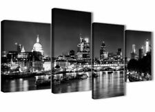 Wallfillers Large River Thames London Skyline 130cm X 67cm Black and White