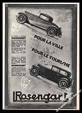 Publicité ROSENGART Vintage Ad Advertising 1931
