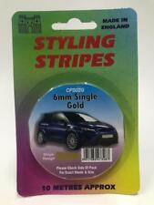 Gold Pin Stripe 6mm Wide Styling Coachline