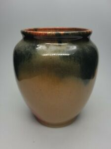 "Muncie Pottery 1929 Blue Peachskin Vase #310-6 6"" tall, 4"" mouth"