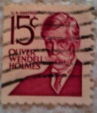 1968 Scott 1288b U. S. Oliver Wendell Holmes one used 15 cent stamp off paper