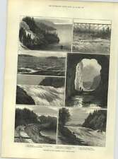 1883 Canadian Pacific Railway Line Lake tromperie vison Bay