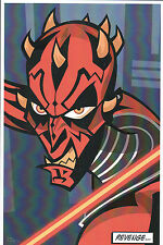 Animated Star Wars - DARTH MAUL PRINT HAND SIGNED Jorge Baeza