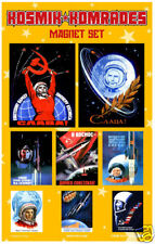 Soviet Space Magnets KOSMIK KOMRADES Cosmonauts / NASA Astronaut Russia Sochi
