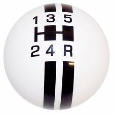 Rally 5 Speed White w/ Black Stripes shift knob M10x1.50 U.S MADE
