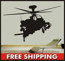 Sticker Connection Helicopter Apache Bedroom boys nursery decal wall art home