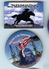 2 John KERRY 2004 DEMOCRATIC CONVENTION Pins