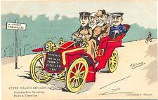 Spanien, Fetes Franco-Espagnole, König Alfons im Auto, sign. Bianco, um 1905