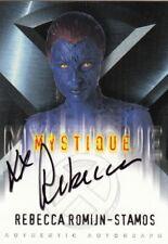 Topps X-Men Movie Rare Rebecca Romijn-Stamos as Mystique Auto Card