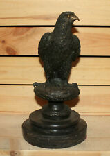 Vintage hand made bronze eagle statuette