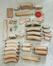 Huge Lot of Thomas Train & Circo Wood Train Track, Bridges & Accessories – 88 Pc
