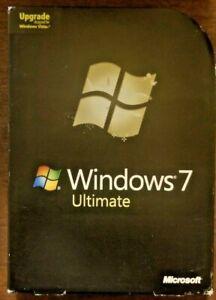 Microsoft Windows 7 Ultimate,UPGRADE,Retail Package,SKU GLC-00184,32-bit,64-bit
