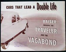 KAISER Traveler & Vagabond Automobiles orig fold-out advertising brochure