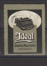 German Poster Stamp Typewriter Ideal