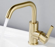 Deck Mounted Brushed Gold or Black Brass Faucet Vanity Basin Mixer Tap for Bath