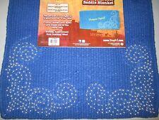 Tough-1 Ornate Wool Mini Saddle Blanket - ROYAL BLUE  - 19x19 - NWT