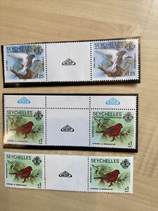 seychelles stamps Birds 1985 And 1986 MNH