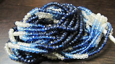 "AAA Quality Blue Sapphire Shaded Beads , Size 4-5mm 15-16"" Strand Shaded Beads"