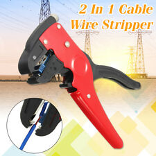 2 In 1 Automatic Cable Wire Stripper Crimper Stripping Electrician Cutter Tool
