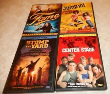 Lot of 4 Dance & Sing Movies (DVD, 4-Discs) WS/FS Center Stage Fame Jump In