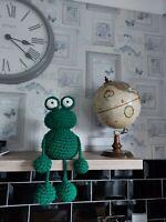Crochet pattern amigurumi cuddly soft toy Franklin the Frog