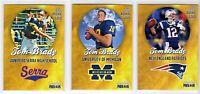 (3) Tom Brady Rookie Phenoms Gold 1999 University Of Michigan + 2000 NE Patriots