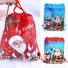 1XDrawstring Gift Bags Merry Christmas Xmas Decor Candy Bag Festival Party Santa