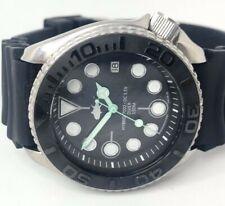 Seiko Diver Watch 7002 Quartz - Ceramic Stealth bezel - Mint green hands  - 1142