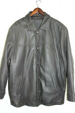 Angelo Litrico Mens leather jacket, vintage / retro black size XXL quilted