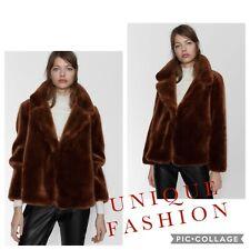 Zara Faux Fur Jacket Size XS (UK Fits 8-10)RRP 79.99
