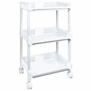 3 or 4 Tier Storage Trolley Caster Wheels Roller Rack Shelving Portable