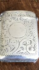 More details for antique silver plate vesta case excellent and beautiful condition