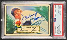 1952 Topps baseball card #81 Vern Law PSA/DNA Autograph grade Gem Mint 10
