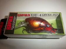 """Rapala  DT04 DT-4 / 5cm 2"""" & 5/16 oz 9g Fishing Lure IN Craw Color Rusty"""