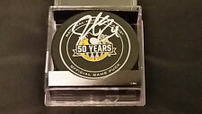 Justin Schultz signed Pittsburgh Penguins 50th Ann Official Game Puck COA