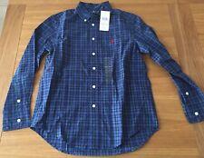 NEW Genuine  Ralph Lauren long sleeve shirt multi colour check. Size M 10-12 yrs