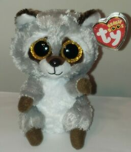 """NEW Ty Beanie Boos - OAKIE the 6"""" Raccoon 2021 NWT's - Plush Toy - IN HAND"""