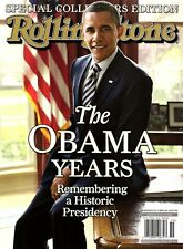 """Rolling Stone Magazine (Special): """"THE OBAMA YEARS"""" ~ Historic President ~ NEW"""