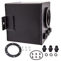 2L Billet High Flow Swirl Fuel Surge Pot Tank AN6 fit for 044 External Fuel Pump