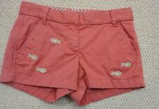 J Crew Women's Shorts-Sz 00 Studded Fish Appliques-Cute!