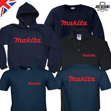 Makita Navy Logo T-shirt Hoodie Polo Shirt Jumper S-5XL Power Tools Adults Kids