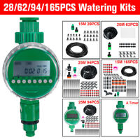 28/62/94/165x Watering Irrigation Micro Drip Kit Timing Plant Garden Hose System