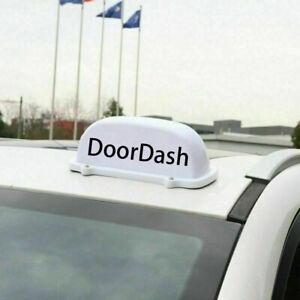 DoorDash Sign LED Lighted Car Top Sign Sticker For Postmates - Food Delivery 12V