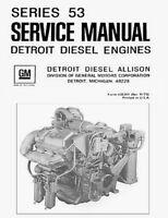 Detroit Diesel Series 53 Allison 6v-53  Repair Service Workshop Manual PDF CD !