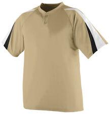 Augusta Sportswear Men's Short Sleeve Two Button Polyester Baseball T-Shirt. 428
