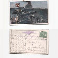 (b91857)   Ansichtskarte Torpedoboot mit Stempel der KuK Verköstigungsstati