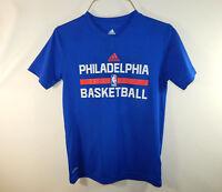 Philadelphia 76ers NBA Basketball T Shirt ADIDAS Climalite T Shirt YOUTH SMALL 8