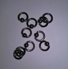 Lot 100 Piercer 14g CBR Captive Bead Ring Body Piercing 1 inch 25mm Surgical SSS