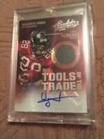 WARRICK DUNN 2013 ABSOLUTE AUTO AUTOGRAPH HELMET TOOLS OF THE TRADE CARD #01/25!